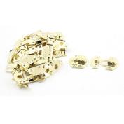 Unique Bargains Jewellery Case Box Decor Suitcase Hasp Lock Latch Gold Tone 23PCS