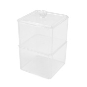 Clear Acrylic 2 Layers Makeup Storage Cosmetic Jewellery Holder Case