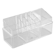Household Acrylic Double Layers Jewellery Comestic Storage Case Organiser