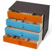 Kendal Large Fashion Leather Jewellery Box / Case / Storage LJC-4+4DR