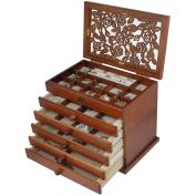 Real wood / Wooden Jewellery Box Case WJC065HT