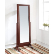 Bowery Hill Mirror Jewellery Armoire in Cherry