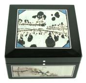 Hand Made Lapidary Intarsia Stone Jewellery Box