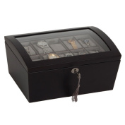 Darby Home Co Locking Glass Top Watch Box