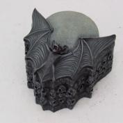 15cm Bat Wings and Stacked Skulls Jewellery/Trinket Box Figurine by PTC
