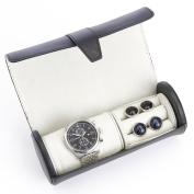Royce Leather Luxury Watch Roll and Cufflink Storage Case