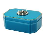 Mercer41 7.6cm H x 20cm W x 13cm D Hexagonal Glass Jewellery Box