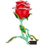 Matashi Crystal Rose Flower Decorative Box