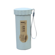 HLHN 450ml Nature Wheat Straw Portable Water Bottle Drink Container Cup