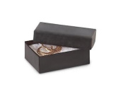 1 Unit 2-7/16x1-5/8x13/16 Black Kraft Jewellery Box Unit pack 100