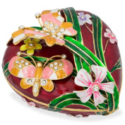 17cm Valentine's Love Heart with Butterfly Jewellery Box