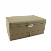 Morelle & Co & Co Tan-coloured Leather Jewellery Box