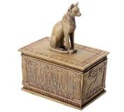 Ancient Egyptian Sandstone Bastet Cat Jewellery Trinket Box