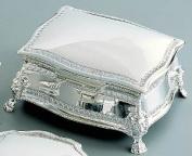 FIGARO RECTANGULAR jewellery BOX, NICKEL PLATED.