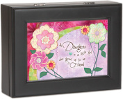 Daughter Cottage Garden Black Matte Finish Jewellery Music Box - Plays Song You...