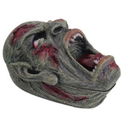 PTC Pacific Giftware Screaming Zombie Skull Jewellery/Trinket Box with Lid Figurine