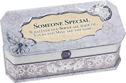 Someone Special Petite Periwinkle Belle Papier Jewellery Music Box - Plays Song Wonderful World