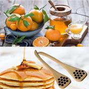 1 Pcs Bionic Natural Wood Honey Dipper Server Mixing Stick Spoon Healthy