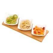 houyuanshun Ceramic Sauce Saucer Dish Plate Snack Dish Bone Plate Bamboo Care Home Restaurant 3 Hot Pot Seasoning Plate