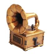14cm Gramophone Musical Instrument Jewellery/Trinket Box Figurine