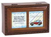 Grandson Blessings Wood Finish Jewellery Music Box Plays Tune Ave Maria