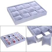 12 Grid Velvet Watch Jewellery Display Storage Box Case Bracelet Tray Holder