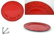 Due Esse Christmas DSC Underplate Red Star Decoration Plastic Diameter 33 cm