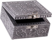 I Love You to the Moon Silver Colour Artisan Metal Jewellery Box