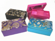 Big Chinese Brocade Jewellery Box-black