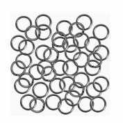 Open Jump Rings 24 grammes Gunmetal Plated Brass 8mm Round 18 Gauge approx 165pc