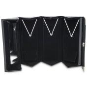 11cm Mirror Triple Folding Pendant Jewellery Box with Hooks