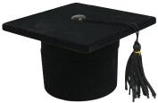 Novel Box Flocked Velvet Graduation Cap Novelty Jewellery Ring/Earring Box