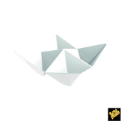 Single-Dose Finger Food Cup Origami PS 103 x 103 mm CFZ 25PZ Bianco