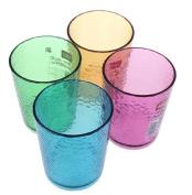 4 combo mugs Colour plastic glass beer / juice / milk / coffee / tea cup 320ml