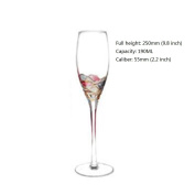 YIFANFENGSHUN Lead-free Crystal Glass Stemware Collection Wine Glass - Dishwasher Safe - Made In China - 5 Shapes And Sizes - Perfect For Red Wine White Wine Champagne,Champagneflutes