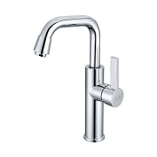 YUCH Kitchen faucet, copper dish, hot and cold water zinc alloy handle, stainless steel pipe faucet