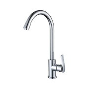 YUCH Tap _ coated copper zinc alloy handle stainless steel kitchen faucet