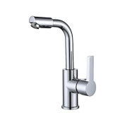 YUCH Kitchen faucet zinc alloy handle copper clad stainless steel pipe faucet