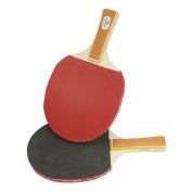 Unique Bargains Recreational Nonslip Rubber Covered Shakehand Table Tennis Racket Paddle
