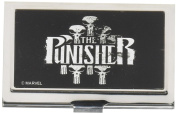Buckle-Down MARVEL UNIVERSE Business Card Holder - SMALL - THE PUNISHER/Skulls Brushed Silver
