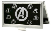 "Buckle-Down BCH-SM-AVO Business Card Holder - SMALL - Avengers ""A""/Superhero Logos Reverse Brushed"