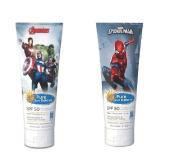 Marvel Spider-Man, Pure Sun Defence, SPF 50 Sensitive Skin Broad Spectrum 240ml + Marvel Avengers, Pure Sun Defence, SPF 50, For Sensitive Skin, Broad Spectrum, 240ml + Beyond BodiHeat Patch, 1 Ct