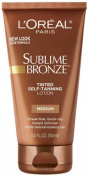 6 Pack - L'Oreal SUBLIME BRONZE Tinted Self-Tanning Lotion Medium Natural Tan 150ml