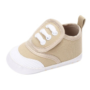 Quistal Baby Newborn Canvas Shoe Heart Shape Cute Little Shoes Sneaker Anti-slip Soft Sole Toddler