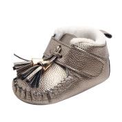 Colourful TM Fashion Newborn Infant Baby Boys Girls Tassel Warm Sneaker Anti-slip Soft Sole Toddler Boots Shoes