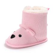 AAA226 Cartoon Bear Baby Boys Girls Winter Warm Soft Sole Shoes Boots Prewalkers