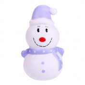 erthome 12cm Christmas Snowman Cream Scented Squishy Slow Rising Squeeze Toy Phone Charm Present