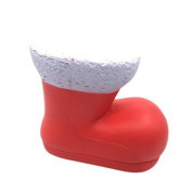 erthome 13cm Christmas Shoes Cream Scented Squishy Slow Rising Squeeze Toys Phone Charm Gift