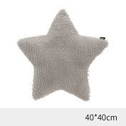 CHENGYI Chenille Star Hold Pillow Home Office Bedside Sofa Child Lovely Cushion
