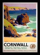"National Railway Museum ""Cornwall (5)"" Framed Print, Multi-Colour, 30 x 40 cm"